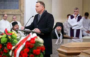 Анджей Дуда в Вильнюсе по-белорусски: За Нашу i Вашу Свабоду!