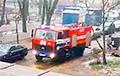 Відэафакт: У Менску пажарныя не маглі праехаць на выклік праз прыпаркаваныя аўто