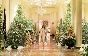 Меланья Трамп показала «Дух Америки» в новогоднем украшении Белого дома