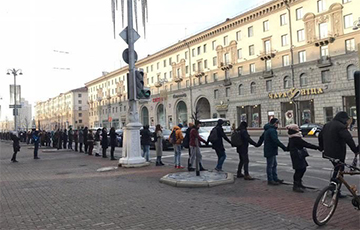 Belarusian In Human Chain: Moustached One, Bugger Off