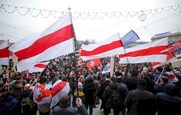 «Нямецкая хваля»: Беларусы пратэстуюць супраць інтэграцыі з Расеяй
