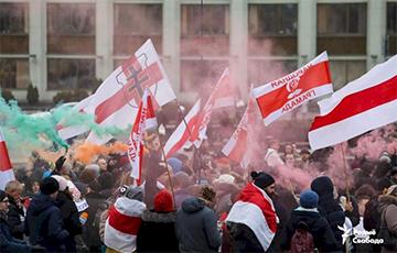 РБК: У Менску людзі выйшлі пратэставаць супраць інтэграцыі Беларусі з Расеяй