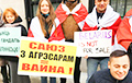 Belarusians Picketed Russian Consulate In New York