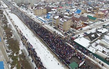 Тысячы людзей выйшлі на мітынг у невялікім райцэнтры РФ