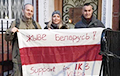 Picket Held Near Belarusian Embassy In Great Britain