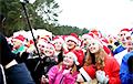 Відэафакт: Па Менску бегалі шэсць сотняў Санта-Клаўсаў