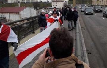 В Гродно прошла акция в защиту независимости Беларуси
