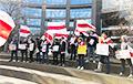 В Нью-Йорке провели акцию в защиту независимости Беларуси