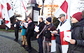"""Belarusians Of Szczecin Held March Against """"Integration"""" With Russia"""