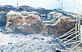 В центре Гродно строители обнаружили старинные фрагменты зданий