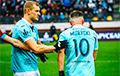 Милевский и Алиев посоревновались в футбольном мастерстве в центре Киева