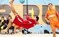 Нацыянальная каманда Беларусі ў пляжным футболе двойчы падолела чэмпіёнаў Расеі