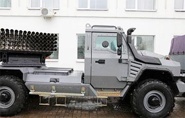 В Минске представили реактивную систему залпового огня «Флейта»