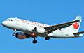 Відэафакт: Самалёт Air Canada сеў у аэрапорце Таронта без кола
