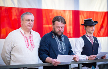 Hrodna Activists Read Out Third Charter Of BPR And Sang Hymns