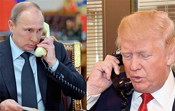 Пуцін пагаварыў праз тэлефон з Трампам
