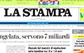 Рэдакцыя італійскай газеты La Stampa заяўляе пра ціск з боку Расеі