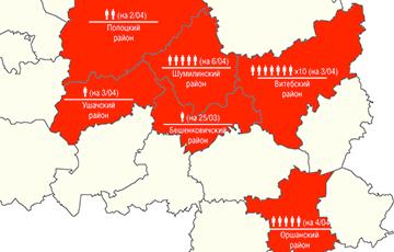 Коронавирус охватил как минимум шесть районов Витебской области