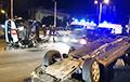 В Минске перевернулась машина «скорой»