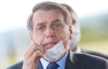 Прэзідэнт Бразіліі не надзеў маску і паплаціўся за гэта