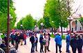 Сотни людей пришли на пикет в Молодечно