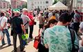 «Стоп таракан»: В Гомеле очереди на пикете в поддержку Тихановских