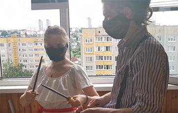 Минчане устроили настоящий концерт на балконе