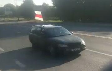 Видеофакт: В Лиде организовали автопробег солидарности