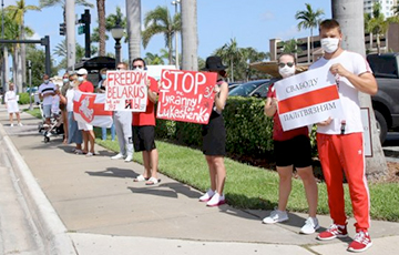 В Южной Флориде прошел Флешмоб солидарности с Беларусью