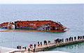 Зеленский потребовал убрать затонувший в Одессе танкер