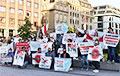 Жители Дюссельдорфа выстроились в цепь солидарности с Беларусью