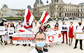 Photo Fact: White-Red-White Flags Near Louvre