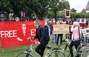 New Rally Of Solidarity With Belarus Held In Amsterdam