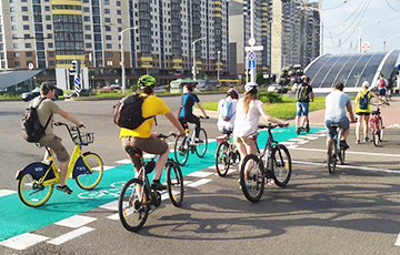 Cycling Solidarity Race In Minsk: 100 People Rode Through Center With Music And Horn Signals
