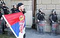 В Белграде протестующие прорвались в здание парламента