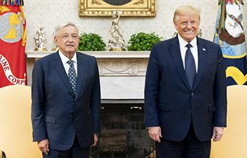 Трамп впервые провел встречу с президентом Мексики