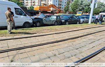 В Витебске столкнулись пять автомобилей