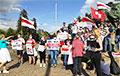 Удзельнікі «жывога ланцуга» ў Бэрне: Беларус усюды падтрымае свой народ