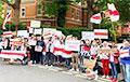 Відэафакт: Кіламетровы ланцуг салідарнасці з Беларуссю ў Лондане расцягнуўся да Букінгемскага палаца