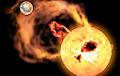 Астрономы зафиксировали сильнейшую супервспышку на звезде