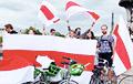 В Париже прошел велопробег солидарности с Беларусью