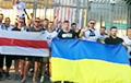 Фанаты Луганскага клуба «Зара» падтрымалі беларусаў