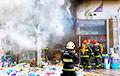 Торговый павильон на Комаровском рынке горел открытым пламенем