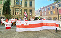 В Брюсселе прошла акция солидарности со свободной Беларусью