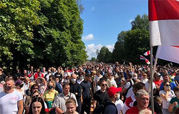 Hrodna Means Pride: Sviatlana Tsikhanouskaya With Their Team Holds Many-Thousand Rally (Online, Video)