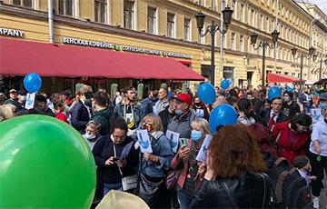 Жители российских городов вышли на акции солидарности с хабаровчанами