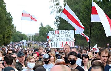 Яркие фото с многотысячного митинга Светланы Тихановской в Гродно