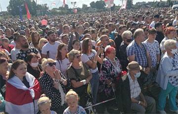 Весь Волковыск гудит после митинга Светланы Тихановской