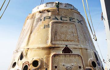 Частный космический корабль компании SpaceX успешно вернулся на Землю