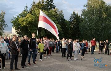 «Хватит спать, восстаньте, рабские натуры»: в Чечерске прошел яркий митинг